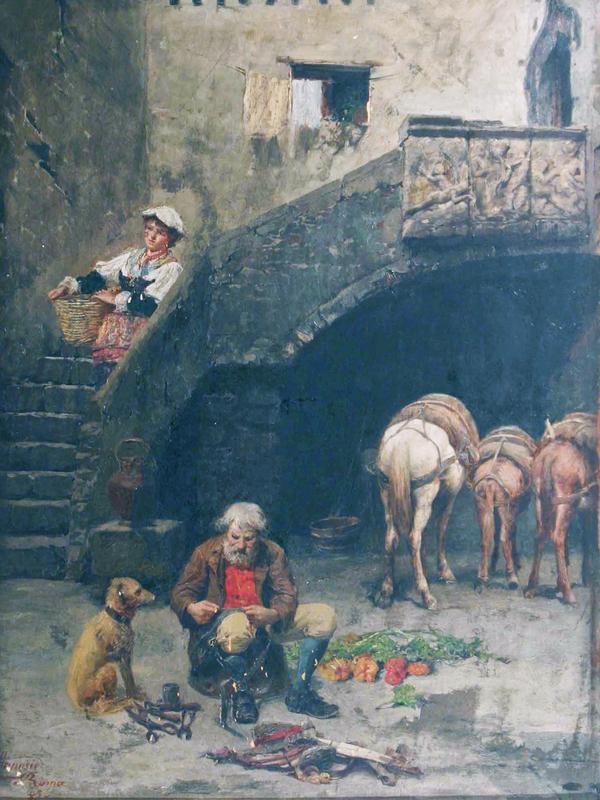 Natale ATTANASIO - Gemälde - Vita contadina