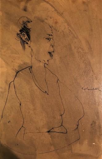 Enrico COLOMBOTTO ROSSO - Zeichnung Aquarell - Figura
