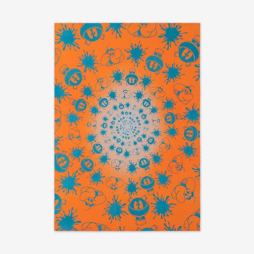 John ARMLEDER - Druckgrafik-Multiple - No Stain, No Gain (Orange & Blue Edition)