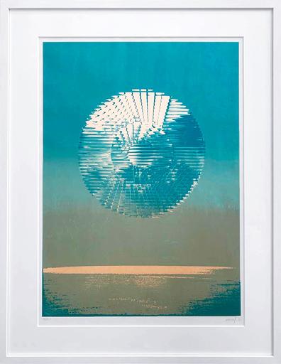 Heinz MACK - Druckgrafik-Multiple - Antarktis- Sonne