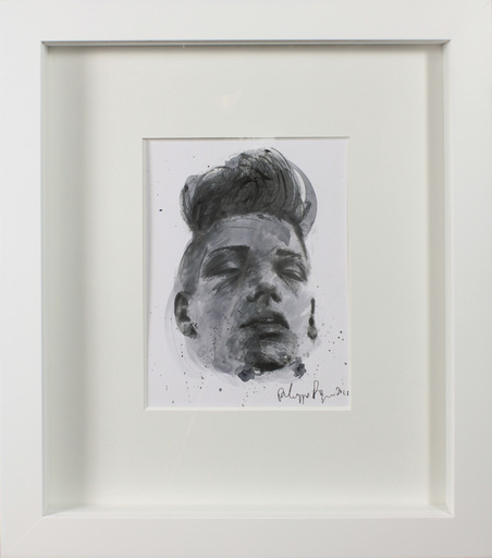 Philippe PASQUA - Zeichnung Aquarell - Constance portrait