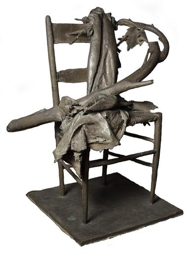 Giacomo MANZU - Skulptur Volumen - Sedia con tralci di vite