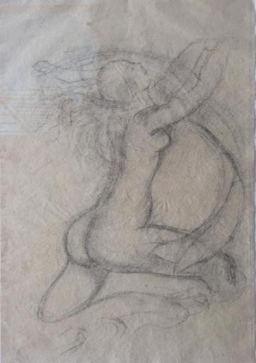Aristide MAILLOL - Zeichnung Aquarell - Nu