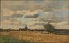 Jacques Alfred BRIELMAN - Pintura - Village au milieu des champs