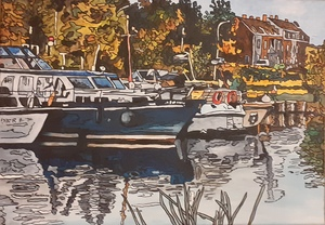 Joël FOUGMAN - Painting - Port de Plaisance du Nord
