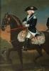 Edward Frances Calza CUNNINGHAM - Painting - Edward Francis Cunningham -CIRCLE, Equestrian Portrait, Oil