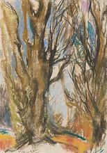 Willy EISENSCHITZ - Dibujo Acuarela - Bäume