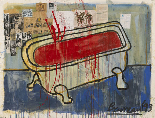 BRUNEAU - Gemälde - Bloedbad
