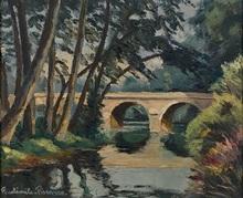 Paul Émile PISSARRO - Painting - Le Pont du Vey Calvados