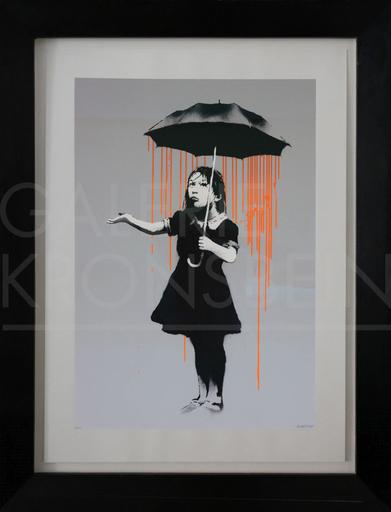 班克斯 - 版画 - Nola, Dark Orange to Orange Rain, AP signed