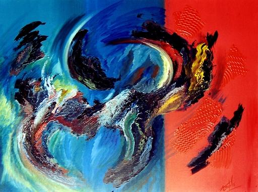 Didier ANGELS - Peinture - L'attaque