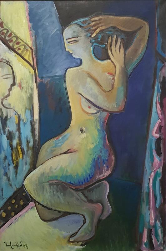 HOVAKIM - Pintura - Margarita in front of the mirror. (According to Bulgakov)