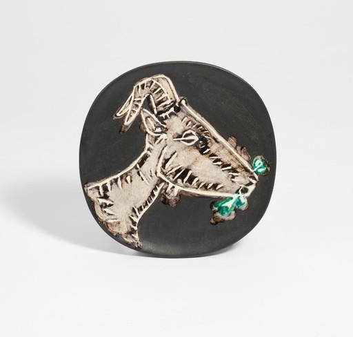 Pablo PICASSO - Ceramic - Tête de chèvre de profil