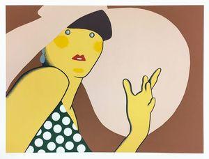 Kiki KOGELNIK - Grabado - Lady with Hat
