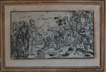 Jan ASSELIJN - Dibujo Acuarela - mythological scene