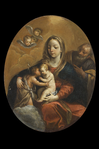 Giovan Gioseffo DAL SOLE - Painting - Holy Family