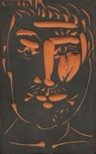 Pablo PICASSO - Ceramic - Man's Face