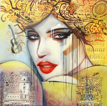 Sylvie ABADIE-BASTIDE - Painting - Voyageuse I