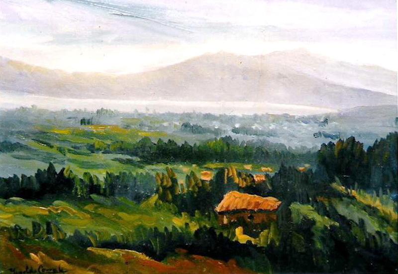 Imeldo CORRAL GONZALES - Pittura - Paisaje con ría al fondo