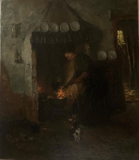 Gijsbertus Jan SIJTHOFF - Painting - Woman at a Laren interior