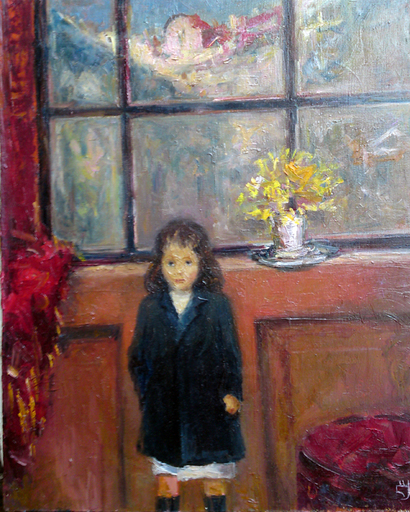Levan URUSHADZE - Painting - A girl by the window