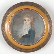"Louis André FABRE - Miniature - Louis-Andre Fabre (1750-1814)-Attrib., ""Mlme Mai-Rolland"""