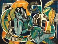 Jacqueline DITT - Peinture - Die Nacht (The Night)