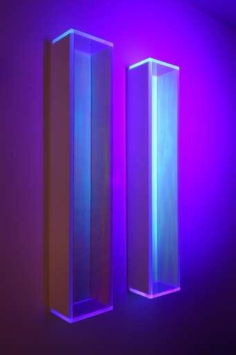Regine SCHUMANN - Skulptur Volumen - colormirror  rainbow glow after blu green Milan