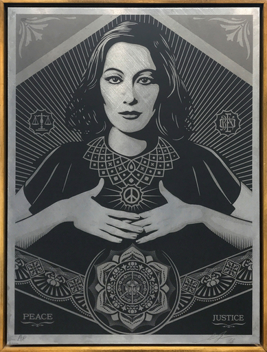 Shepard FAIREY - Druckgrafik-Multiple -  Peace & Justice Woman