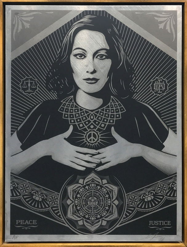 Shepard FAIREY - Stampa-Multiplo -  Peace & Justice Woman