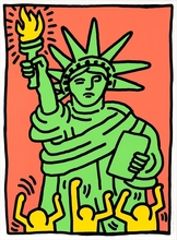 Keith HARING (1958-1990) - Statue of Liberty