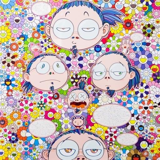 Takashi MURAKAMI - Estampe-Multiple - Self-Portrait of the Manifold Worries (...)