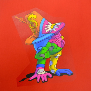 Viktoria VEISBRUT - Drawing-Watercolor - Robin Hood (on Red)