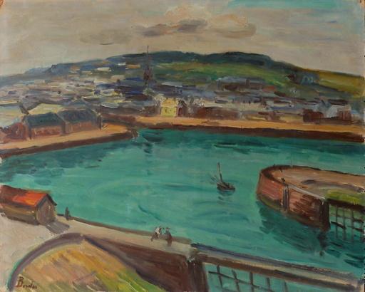Léonard BORDES - 绘画 - L'avant port de Fécamp