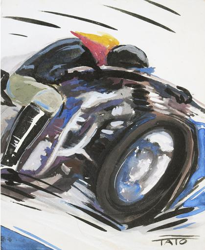 Guglielmo Sansoni TATO - Dibujo Acuarela - Motociclismo