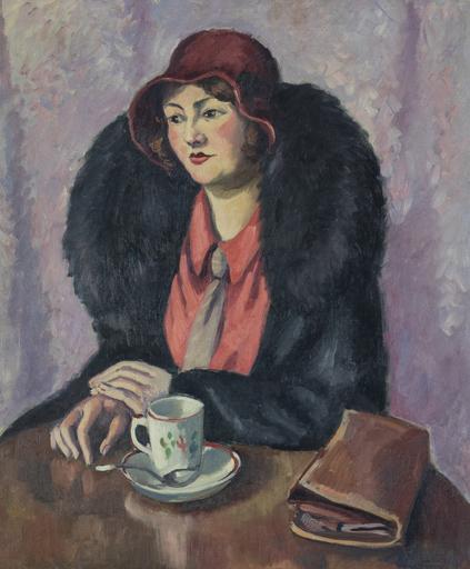 Ludovic Rodo PISSARRO - Gemälde - Femme à la cravatte