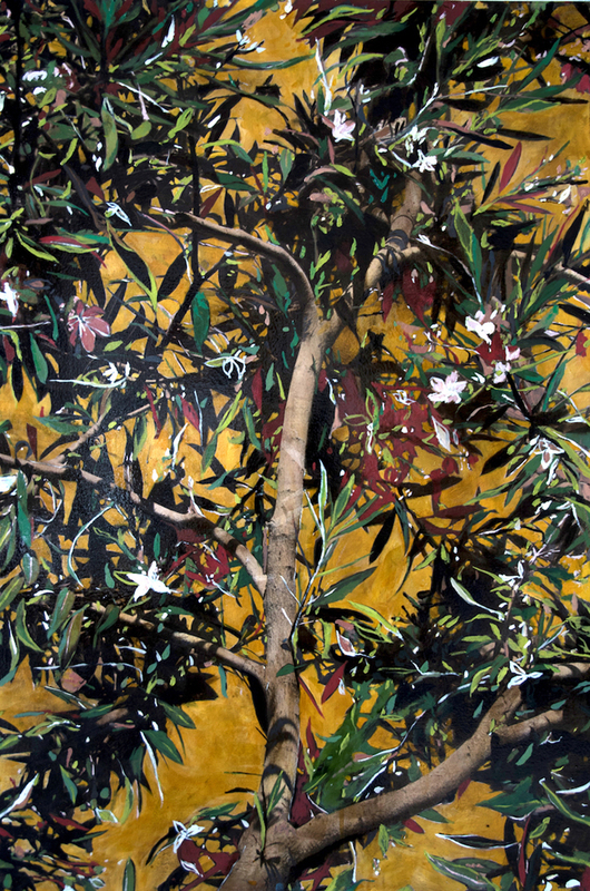 Ayline OLUKMAN - Painting - Blooming tree