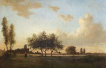 Camille PISSARRO (1830-1903) - Paysage aux environs de Paris, 1857