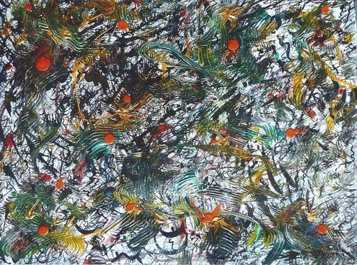 Didier ANGELS - Peinture - TUMULTE Coquelicots