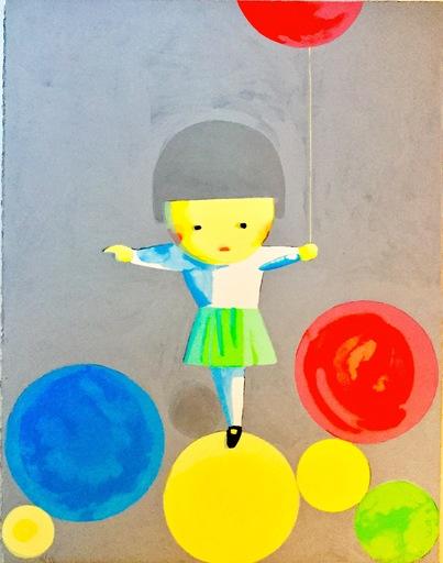 劉野 - 版画 - Little Girl with Balloons
