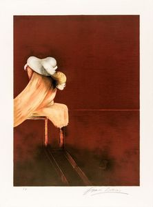 Francis BACON - Stampa Multiplo - Second Version, Triptych 1944, Left Panel