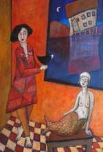 Francis BERTHAULT - Peinture - Lamuse et la sirene
