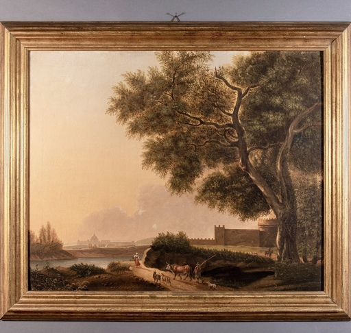 Hendrik Frans VAN LINT - Pittura - Campagna romana