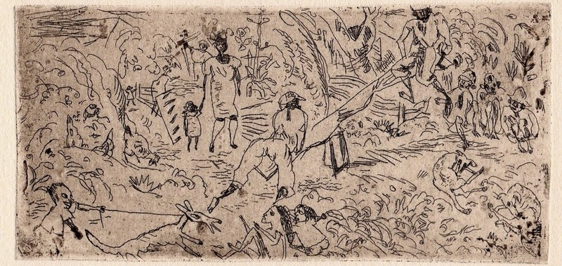 Jules PASCIN - Grabado - On the South