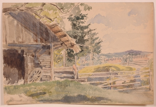 "Franz REINHOLD - Drawing-Watercolor - ""Landscape"", Watercolor, ca.1850"