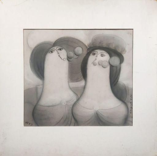 Yuri KRASNY - Dessin-Aquarelle - Two Women