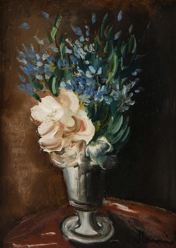 Maurice DE VLAMINCK - Peinture - Bouquet de fleurs dans un vase