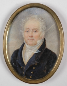 "Miniatur - ""Portrait of a Gentleman"", Miniature on Ivory"