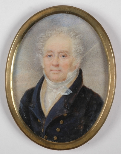 "Jean Baptiste ISABEY (Attrib.) - Miniature - ""Portrait of a Gentleman"", Miniature on Ivory"
