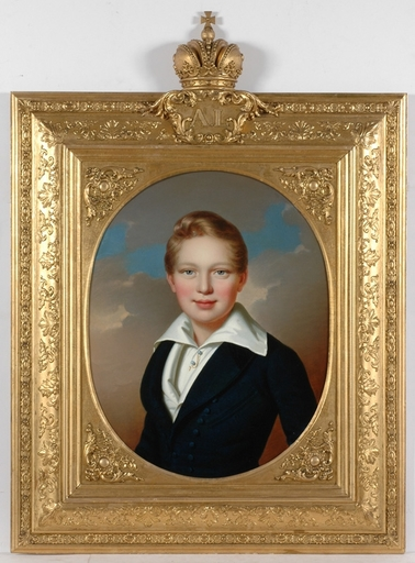 "Anton EINSLE - Painting - ""Archduke Alexander Leopold"", 1837, Oil Painting"